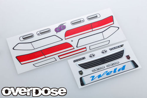 Overdose 3D Graphic Series for OD Toyota Mark II Light & Grill Emblem Set
