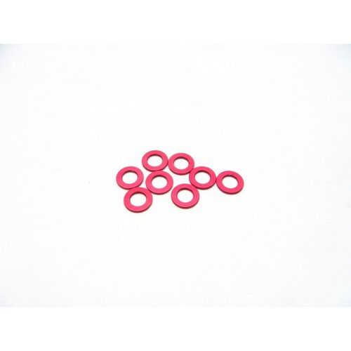 Hiro Seiko 3mm Alloy Spacer Set (1.0mm) [Red]