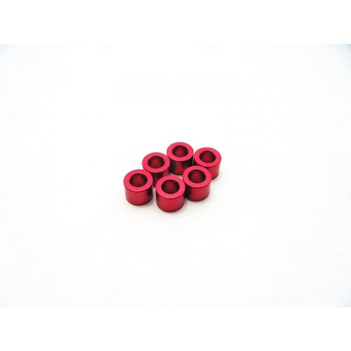 Hiro Seiko 3mm Alloy Spacer Set (2.5mm) [Red]