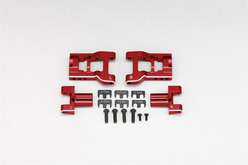 Yokomo YD-2/YD-4 Red Adjustable Rear Lower Short H Suspension Arm Set